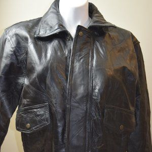 Napoline Leather Outfitters Men's Large Black Coat